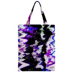 Canvas Acrylic Digital Design Zipper Classic Tote Bag by Simbadda