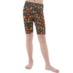 Pattern Background Ethnic Tribal Kids  Mid Length Swim Shorts by Simbadda