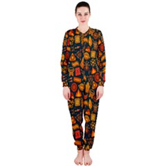 Pattern Background Ethnic Tribal Onepiece Jumpsuit (ladies)  by Simbadda