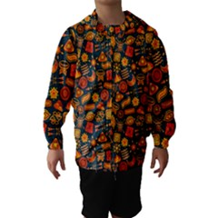 Pattern Background Ethnic Tribal Hooded Wind Breaker (kids) by Simbadda
