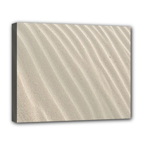 Sand Pattern Wave Texture Deluxe Canvas 20  X 16   by Simbadda