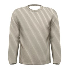 Sand Pattern Wave Texture Men s Long Sleeve Tee by Simbadda