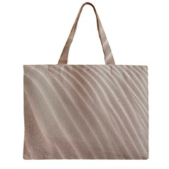 Sand Pattern Wave Texture Zipper Mini Tote Bag by Simbadda