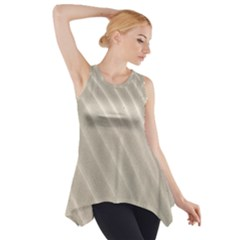 Sand Pattern Wave Texture Side Drop Tank Tunic
