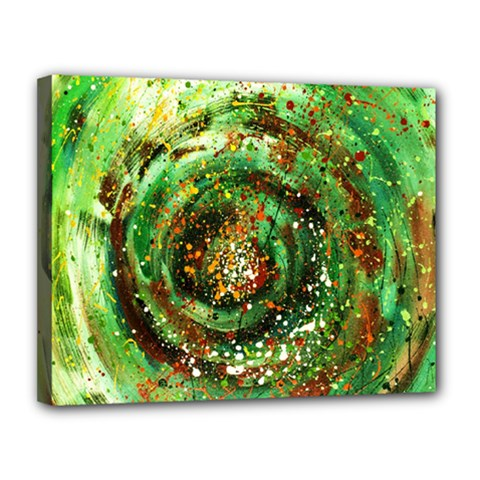 Canvas Acrylic Design Color Canvas 14  X 11  by Simbadda