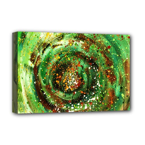 Canvas Acrylic Design Color Deluxe Canvas 18  X 12   by Simbadda