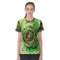 Canvas Acrylic Design Color Women s Cotton Tee by Simbadda