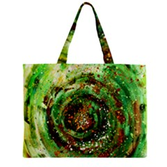 Canvas Acrylic Design Color Zipper Mini Tote Bag by Simbadda