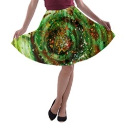 Canvas Acrylic Design Color A Line Skater Skirt by Simbadda