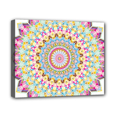 Kaleidoscope Star Love Flower Color Rainbow Canvas 10  X 8  by Alisyart