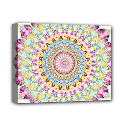 Kaleidoscope Star Love Flower Color Rainbow Deluxe Canvas 14  X 11  by Alisyart