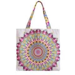 Kaleidoscope Star Love Flower Color Rainbow Zipper Grocery Tote Bag by Alisyart