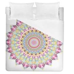 Kaleidoscope Star Love Flower Color Rainbow Duvet Cover (queen Size) by Alisyart