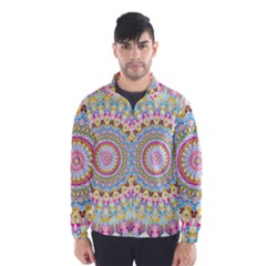 Kaleidoscope Star Love Flower Color Rainbow Wind Breaker (men) by Alisyart