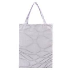 Line Stone Grey Circle Classic Tote Bag by Alisyart