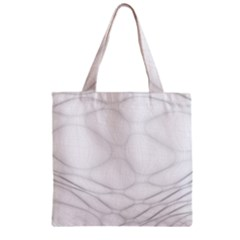 Line Stone Grey Circle Zipper Grocery Tote Bag by Alisyart