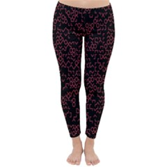 Random Pink Black Red Classic Winter Leggings by Alisyart