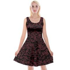 Random Pink Black Red Reversible Velvet Sleeveless Dress by Alisyart