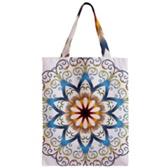 Prismatic Flower Floral Star Gold Green Purple Orange Classic Tote Bag by Alisyart