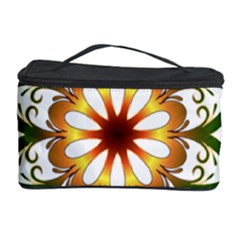 Prismatic Flower Floral Star Gold Green Purple Cosmetic Storage Case by Alisyart
