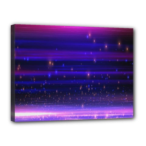 Space Planet Pink Blue Purple Canvas 16  X 12  by Alisyart