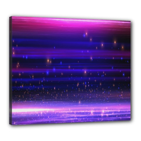 Space Planet Pink Blue Purple Canvas 24  X 20  by Alisyart