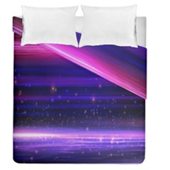 Space Planet Pink Blue Purple Duvet Cover Double Side (queen Size) by Alisyart