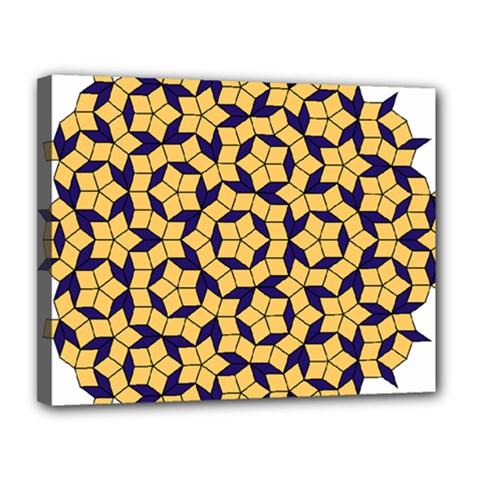 Star Orange Blue Canvas 14  X 11  by Alisyart