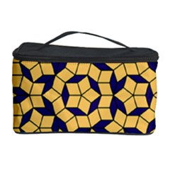 Star Orange Blue Cosmetic Storage Case by Alisyart