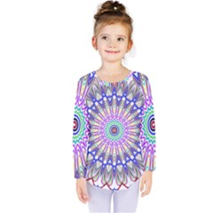Prismatic Line Star Flower Rainbow Kids  Long Sleeve Tee by Alisyart
