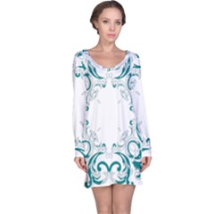 Vintage Floral Style Frame Long Sleeve Nightdress by Alisyart