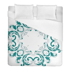 Vintage Floral Style Frame Duvet Cover (full/ Double Size) by Alisyart