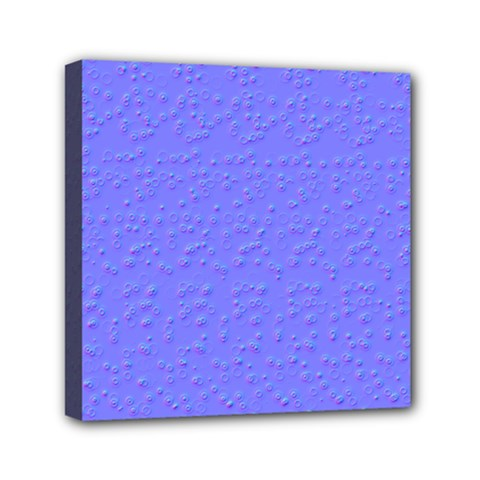 Ripples Blue Space Mini Canvas 6  X 6  by Alisyart