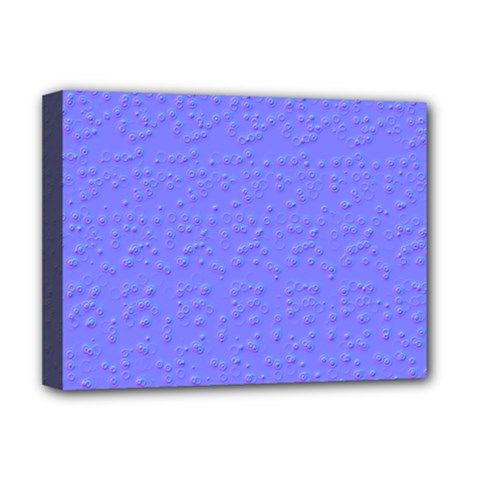 Ripples Blue Space Deluxe Canvas 16  X 12   by Alisyart