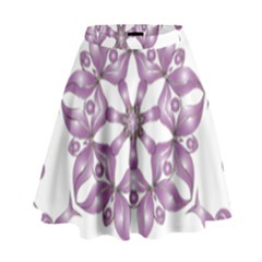 Frame Flower Star Purple High Waist Skirt by Alisyart