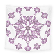 Frame Flower Star Purple Square Tapestry (large) by Alisyart