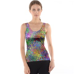 Glass Rainbow Color Tank Top