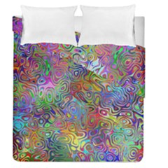 Glass Rainbow Color Duvet Cover Double Side (queen Size) by Alisyart
