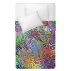 Glass Rainbow Color Duvet Cover Double Side (single Size) by Alisyart