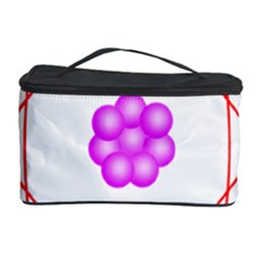 Atom Physical Chemistry Line Red Purple Space Cosmetic Storage Case by Alisyart