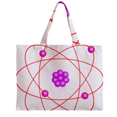 Atom Physical Chemistry Line Red Purple Space Zipper Mini Tote Bag by Alisyart