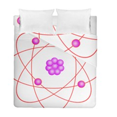 Atom Physical Chemistry Line Red Purple Space Duvet Cover Double Side (full/ Double Size) by Alisyart
