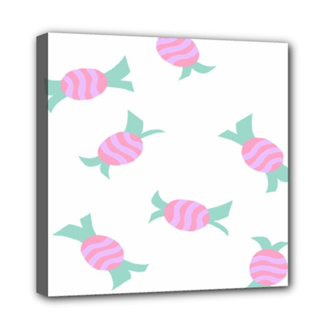 Candy Pink Blue Sweet Mini Canvas 8  X 8  by Alisyart