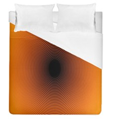 Abstract Circle Hole Black Orange Line Duvet Cover (queen Size) by Alisyart