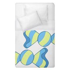 Candy Yellow Blue Duvet Cover (single Size) by Alisyart
