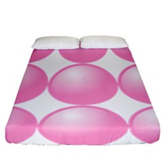Circle Pink Fitted Sheet (california King Size) by Alisyart