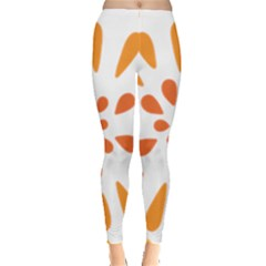 Circle Orange Leggings  by Alisyart