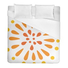 Circle Orange Duvet Cover (full/ Double Size) by Alisyart