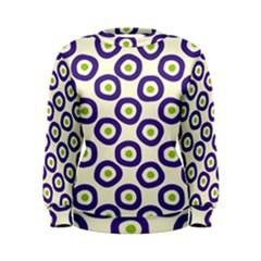Circle Purple Green White Women s Sweatshirt