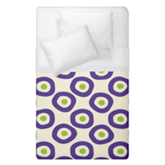 Circle Purple Green White Duvet Cover (single Size) by Alisyart